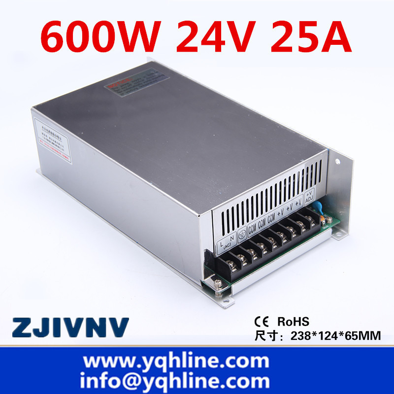 цена на S-600-24 25A CE approved high quality ac to dc single output 24v 600w switching power supply made in China ac/ dc smps