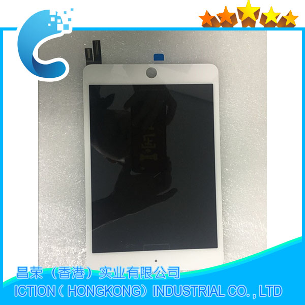 Full New A1538 A1550 LCD Assembly White For iPad Mini 4 LCD Front Display Touch Screen Digitzer Panel EMC 2815 EMC 2824 grassroot new 100% tested good quality lcd touch screen for ipad mini4 a1538 a1550 lcd display touch screen replacement assembly