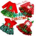 2016 ano novo vestido de natal bonito XMAS tree roupa das crianças meninas encantadoras meninas vestido roupas
