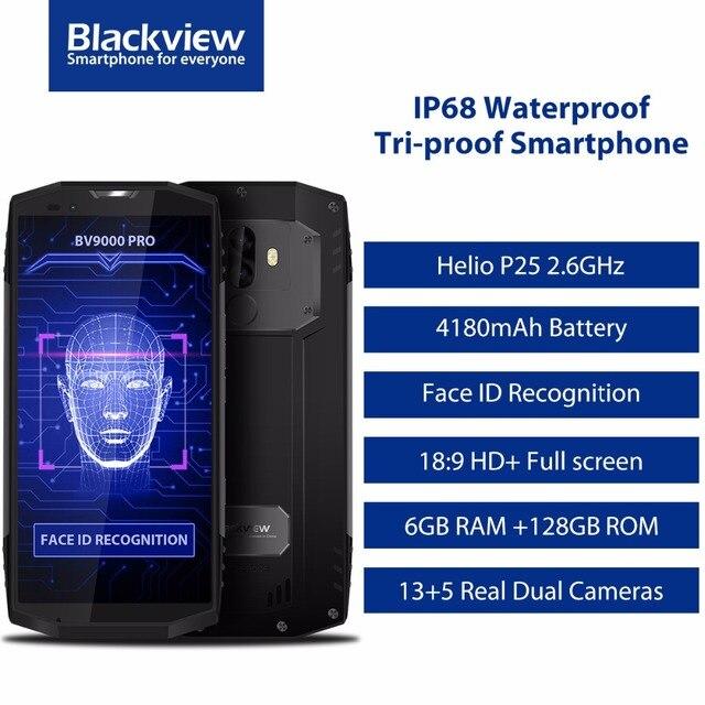 "Blackview bv9000 Pro 5.7 ""HD IP68 Водонепроницаемый телефон mtk6757cd Octa core android 7.1 6 ГБ Оперативная память 128 ГБ Встроенная память противоударный смартфон OTG"