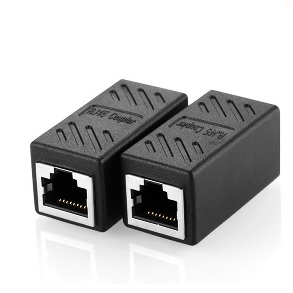 2 Pack RJ45 Coupler Ethernet Cable Coupler LAN Connector Inline Cat7/Cat6/Cat5e Ethernet Cable Extender Adapter Female To Female