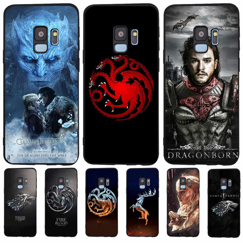Game Thrones Daenerys Dragon Jon For Samsung Galaxy S6 S7 Edge S8 S9 S10 Plus Lite Note 8 9 phone Case Cover Coque Etui Funda