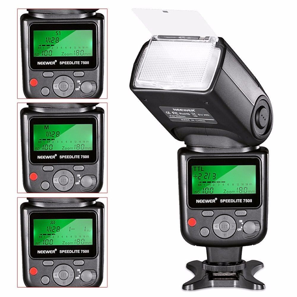 Image 4 - Neewer VK750 II i TTL Speedlite Flash w/ LCD Display for Nikon D7100 D7000 D5300 D5200 D700 D600 D90 D80 D80 Digital SLR Camera-in Flashes from Consumer Electronics