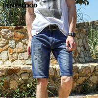 Denyblood Jeans Mens Denim Shorts Capris Light Weight Stretch Lycra Slim Straight Summer Distressed Jeans Ripped