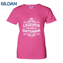 Legends Are Born In September Birthday Shirt T Hot Sale Women Fashion