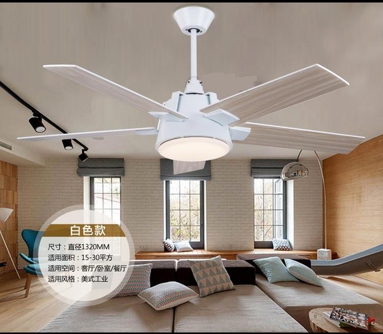 Aliexpress Com Buy Industrial Mute Fan Ceiling Fan Light Living