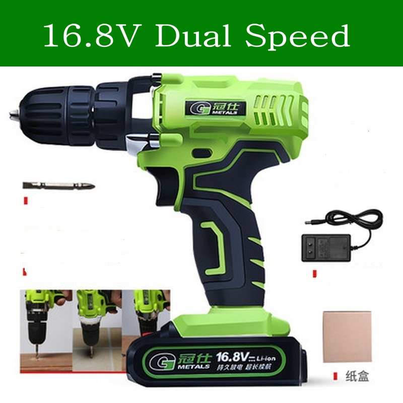 16.8V Dual Speed Mini Cordless Electric Screwdriver Rechargeable Lithium ion Battery Electric Drill Power Tools With Gift