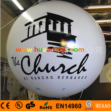 3m Giant PVC Inflatable Balloon sky balloon helium balloon(free logo)