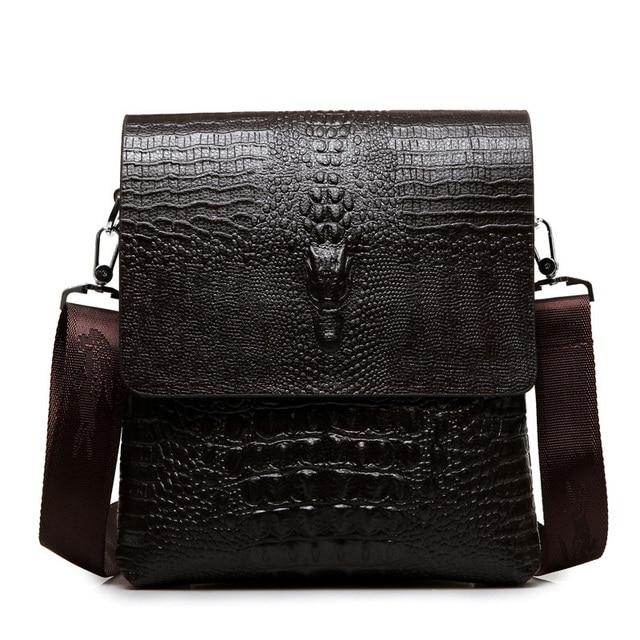 38569292347f 2019 Spring Summer Fashionable Casual Leather Man Bag Man s Messenger Bag  Shoulder Bag Crocodile Fashion Men s Travel