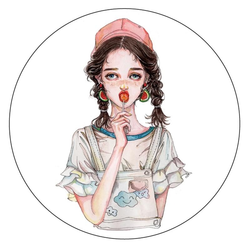 Fashion Girl Masking Tape Japanese Washi Tape Scrapbooking Washi-tape Papeleria School Tools Decorative Stationery black washi tape scrapbooking tools adhesive tape decorative tape school