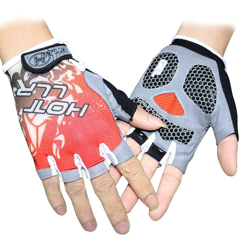 Breathable Cycling Gloves Anti Slip Gel Pad Road Bike Short Half Finger Gloves Men Summer Sports Bicycle MTB Bikes Gloves a pair of fashion style outdoor sports cycling non slip breathable half finger gloves