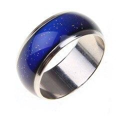 Кольцо из нержавеющей стали изменение Цвет настроение кольца чувство/разные эмоции кольца шириной 6 мм смарт ювелирное изделие напрямую с з...