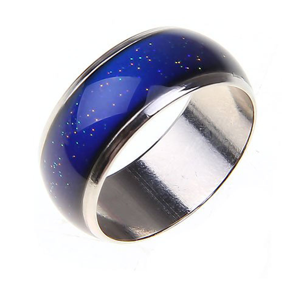 Stainless Ring Changing Color Mood Rings Feeling Emotion Temperature Ring Wide 6mm Smart Jewelry Factory direct