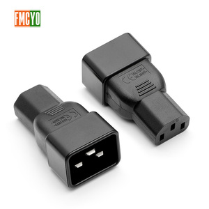 Image 4 - PDU power conversion plug 10a to 16A three vertical hole to three horizontal CE certification word connector C13 to C20 head