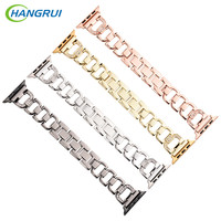 HANGRUI Stainless Steel Watchbands For Apple Smart Watch Band 38MM 42MM Replacement For APPLE Watch Sport