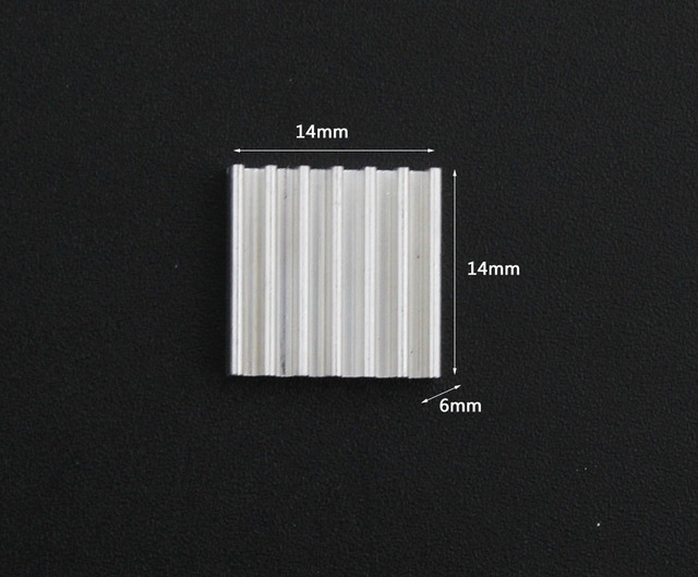 50pcs Extruded Aluminum heatsink 14x14x6mm for Chip VGA RAM LED IC electronic radiator COOLER cooling|aluminum heatsink|extruded aluminum heatsinkradiator cooler -