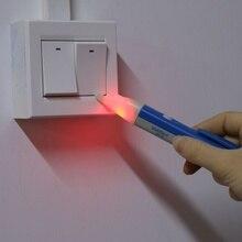 Novelty LED Light AC Electric Voltage Tester Pen Detector 90-1000V Sensor AC Outlet Voltage Outlet Detector вольтметр globalshine 90 1000 tester pen