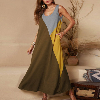 Lipswag 5XL Vintage Short Sleeve Long Dress Patchwork Casual Loose Plus Size Retro Maxi Dresses Women Summer O-neck Beach Dress 6