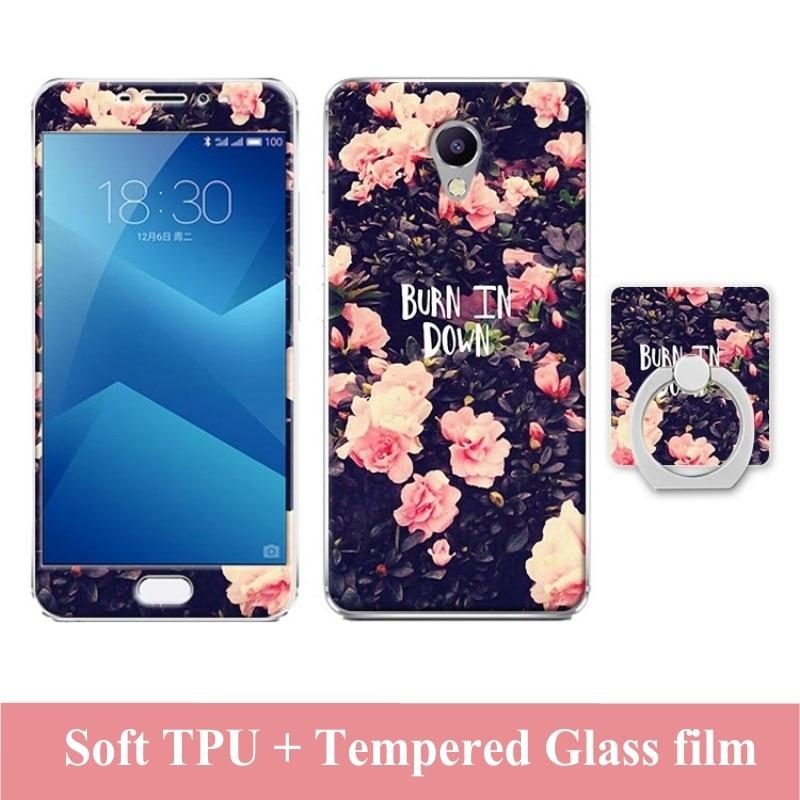 Estuche de dibujos animados 3D para Meizu M5 Note Película de vidrio - Accesorios y repuestos para celulares - foto 6