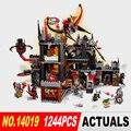 1244 Unids Nueva LEPIN 14019 Caballeros Jestros Vulkanfestung Modelo Bloques de Construcción de Ladrillos de Juguete Compatible Kid Toy