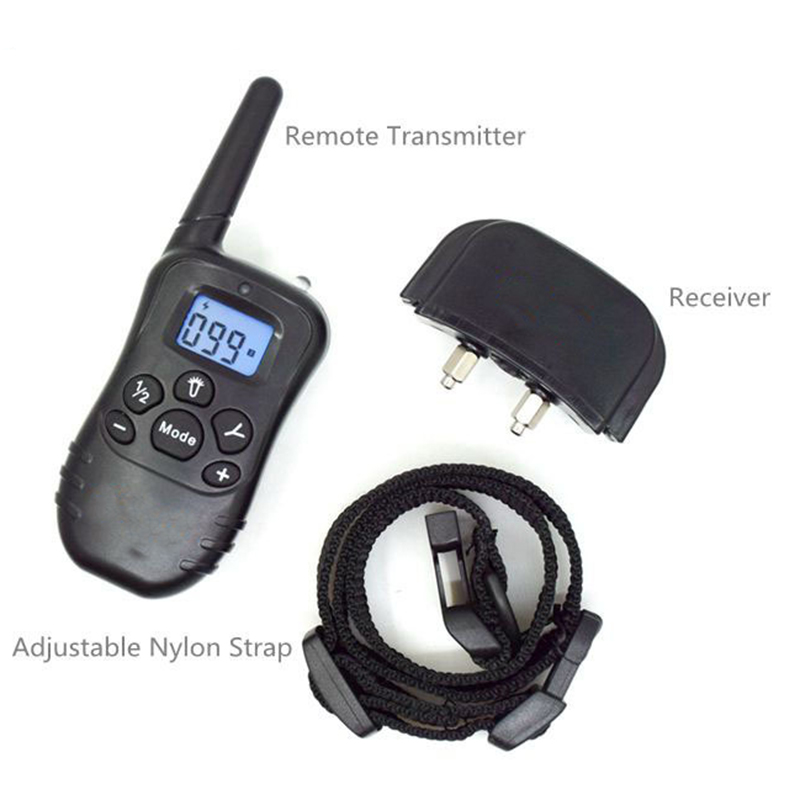 998DR Updated Electronic Dog Training Collar Remote Control Stop barking Rechargeable Pet Training Shock Collar With LCD Display3