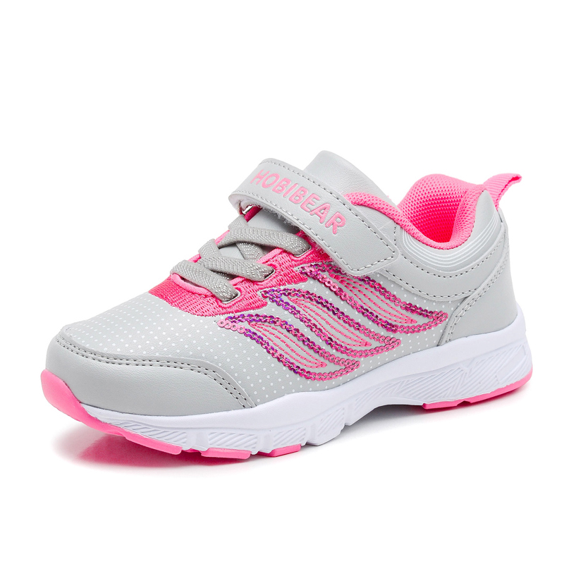 HOBIBEAR New Glitter Girls Sneakers Kids Sport Shoes For Girl Sneaker Pink  Toddler Children Breathable Student Casual Shoes-in Sneakers from Mother    Kids ... 064c873b3aba