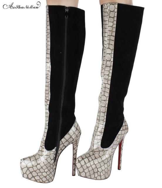 Glands Bottes Femme Martin Bottes en Daim Talons Hauts avec Des Chaussures de Femmes Pointues , noir , 34,50 EUR