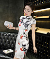 New Cheongsam QiPao Mini Dress Chinese Women's Dress Evening Dress S-XXL