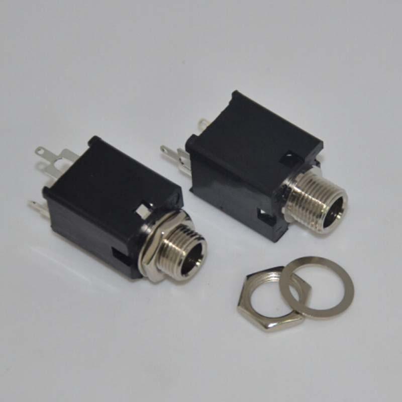 aliexpress com buy 50pcs lot 1 4 6 35mm black mono jack socket rh aliexpress com