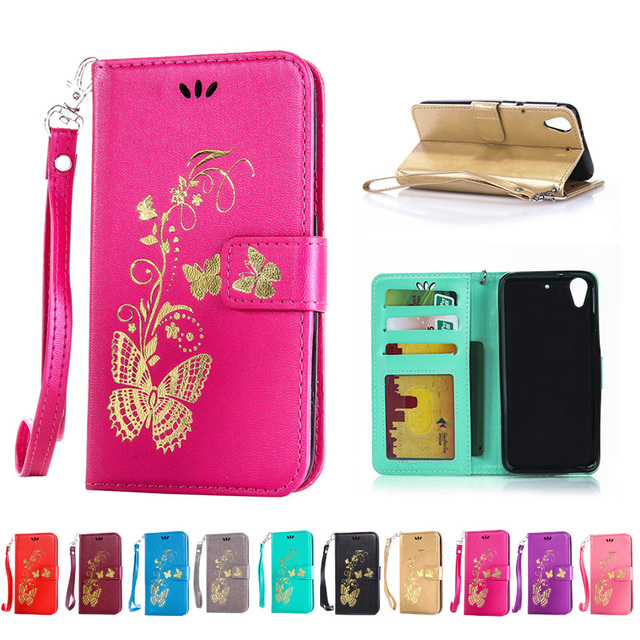 sale retailer aba0b f147a US $4.2 |For HTC Desire 650 Case Wallet PU Leather Case For HTC Desire 650  Dual Sim Case Silicone Back Cover Flip Phone Shell Butterfly-in Flip Cases  ...