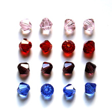 100pcs/Bag Grade AAA 4mm 5301 Seed Bicone Bead Wholesale Glass Crystal Beads 30 Color Pick