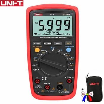 Digitaler Temperaturfühler | UNI-T UT139E True RMS Digital-Multimeter CAT III 600 V Temperatur Sonde LPF Pass Filter LoZ Niedrigen Impedanz Eingang + Schwarz Tasche