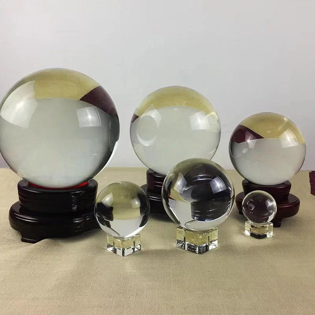 natural crystal ball lens crystal globe crystal ball gifts 40/60/80 mm crystal glass ball