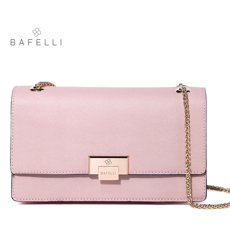 BAFELLI women shoulder bag split leather chains for women crossbody bag bolsos mujer Mint Green pink womens messenger bag