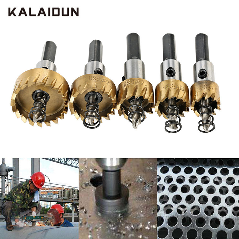 KALAIDUN HSS Steel Saw Tip Tipped Drill Bit Hole Cutter Tool For Wood Metal Alloy Hand Woodwork Cutting Carpentry Crowns