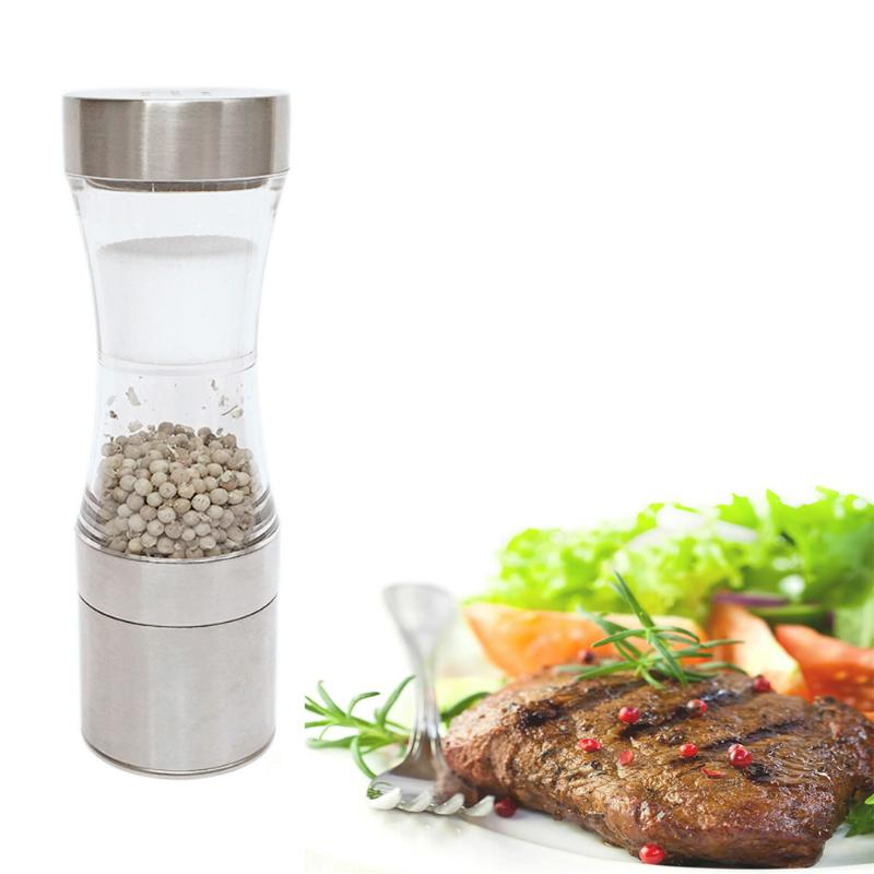 Stainless Steel Manual Pepper Salt Spice Mill Grinder Stick Kitchen Tool Cooking Tools Kitchen Accessaries