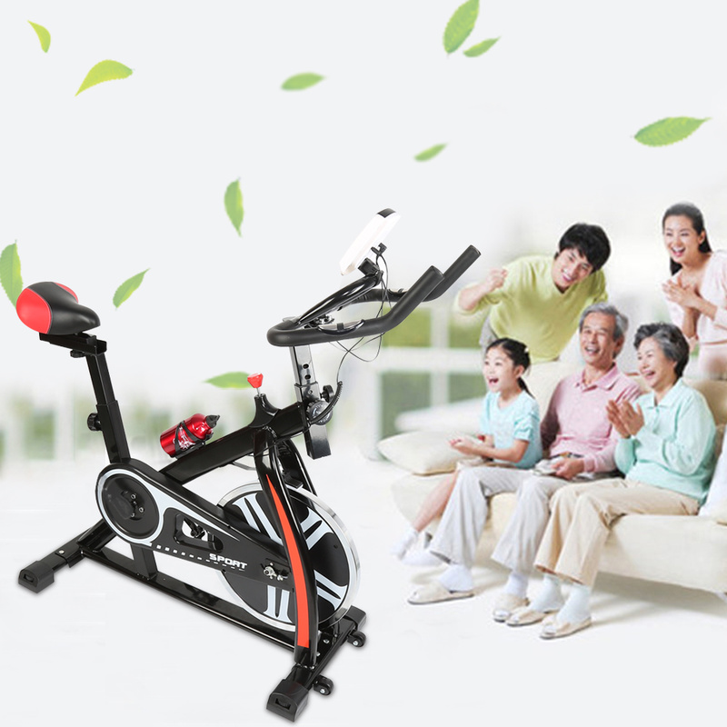 Indoor Fitness Spinning Bicycle Rotating Sports Bike with Kettle LED Display quiet gym home Fitness Equipment Christmas Gift HWC
