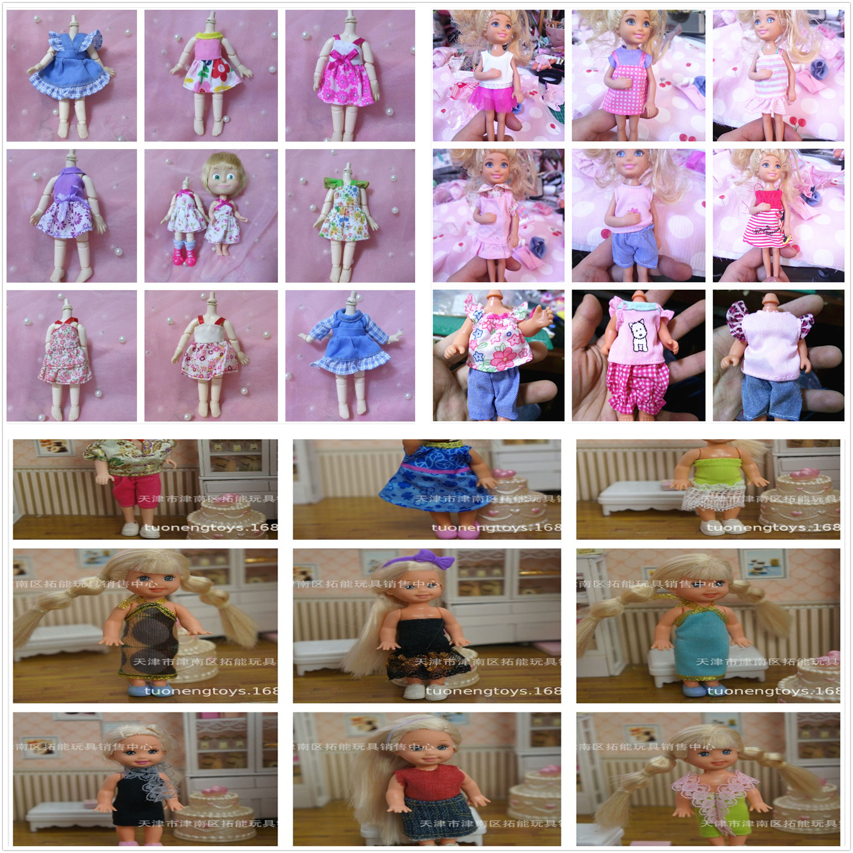 100Pcs lot AILAIKI Cute Little Kelly Casual Clothing Sets Dresses for Princess Kelly Doll Mini Dolls
