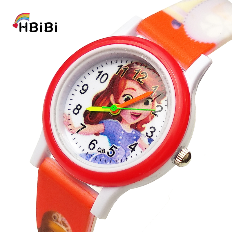 Printed Soft Strap Beautiful Princess Children Watch Electronic Colorful Kids  Waterproof Watches For Girls Birthday Gift Clock