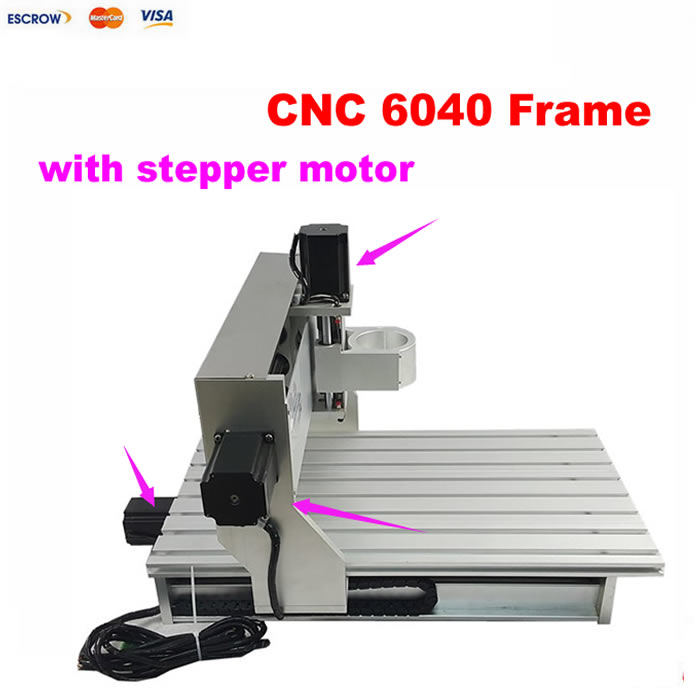 Best cnc machining aluminum parts mini 6040 CNC router lathe assembled motor with limit switch цены