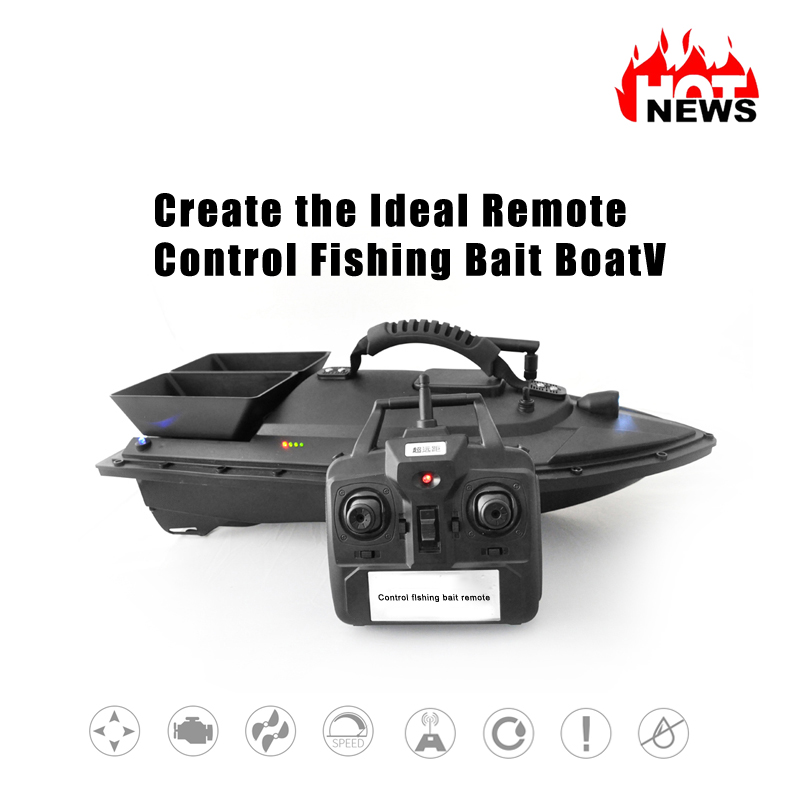 цена Hu Ying Fish Finder 1.5kg Loading 2pcs Tanks with Double Motors 500M Remote Control Sea RC Fishing Bait Boat with Casting