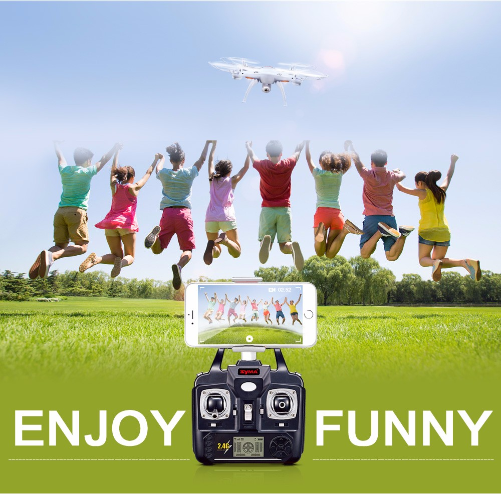 SYMA Official X5SW Drones with Camera HD WiFi FPV Real Time transmission RC Helicopter Quadrocopter RC Dron with Extra Battery 24