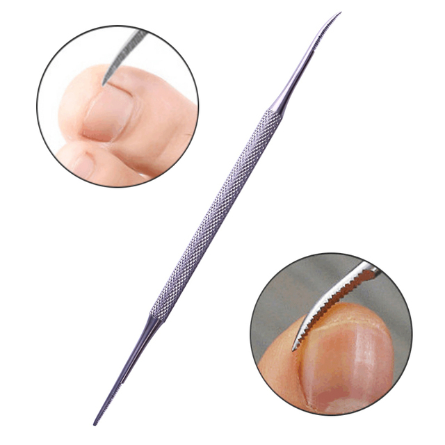 1 Pc Stainless Steel Dual-ended Nail Cuticle Pusher Silver Multi function Professional Remover Manicure Nail Art Pedicure Tool
