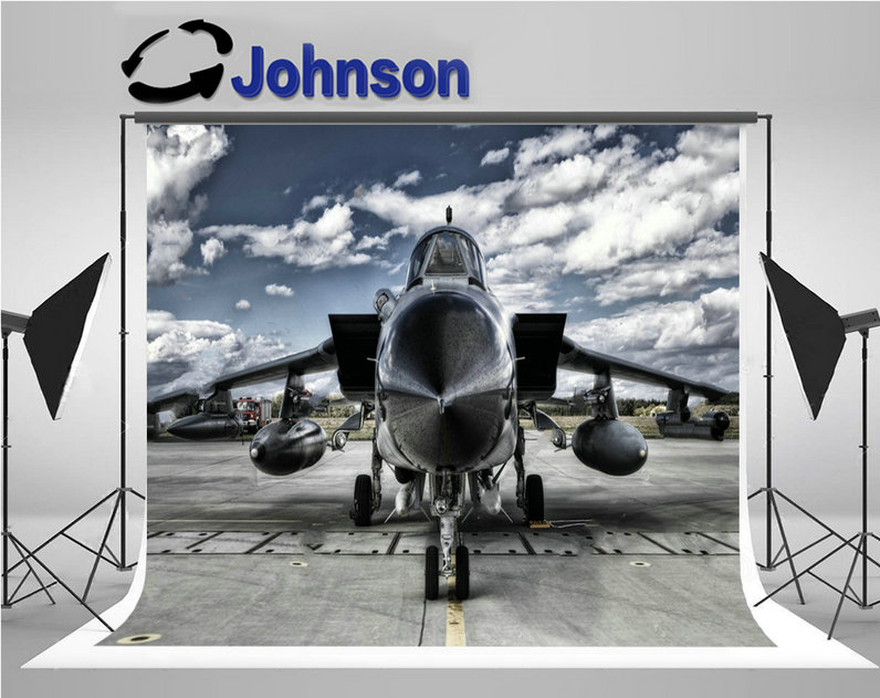 airforce Military Aircraft clouds photography backgrounds Vinyl cloth High quality Computer print children kids backdrop