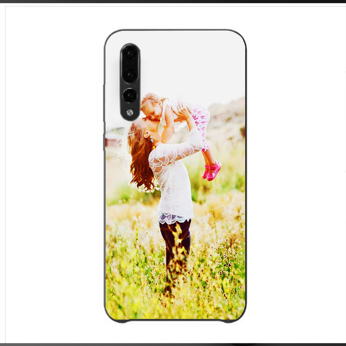 DK Huawei p20 p10 p8 p9 lite series fashion phone case black TPU Cover for Customize your own picture DIY pattern Photo Coque in Half wrapped Cases from Cellphones Telecommunications