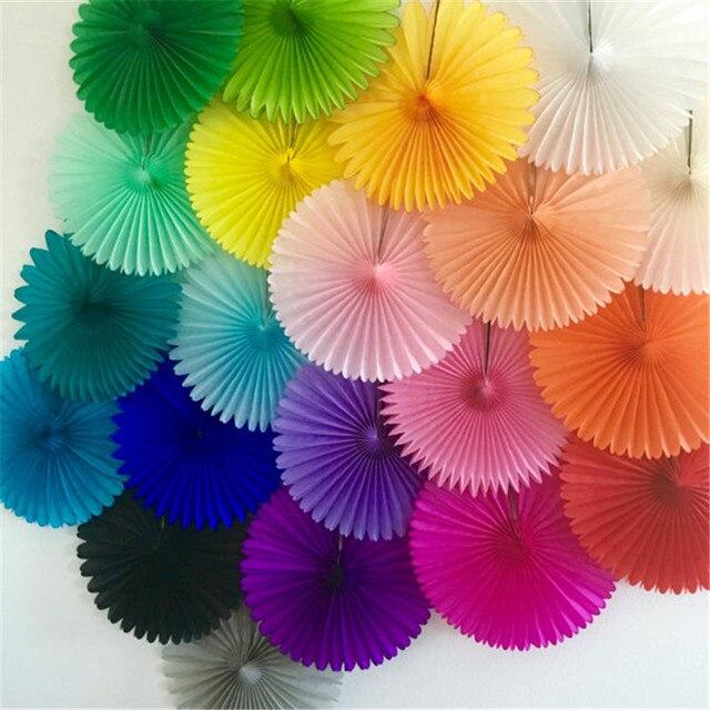15cm 20cm 30cm 5pcs Paper Fans Hand Fan For Wedding Decoration Diy