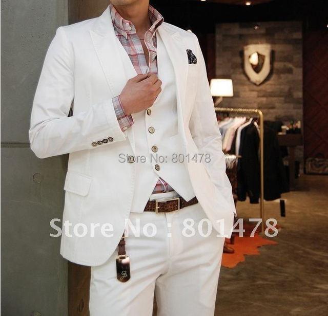 Free Shipping Italian Slim sportsman Sword Set white collar single button suit leisure suit, M, L, XL, XXL, XXXL Code