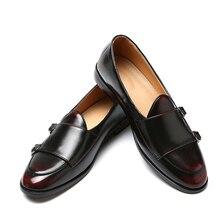 Męskie mokasyny skórzane buty dla człowieka biznes sukienka buty oksfordzie buty moda męska mieszkania duży rozmiar 38 47