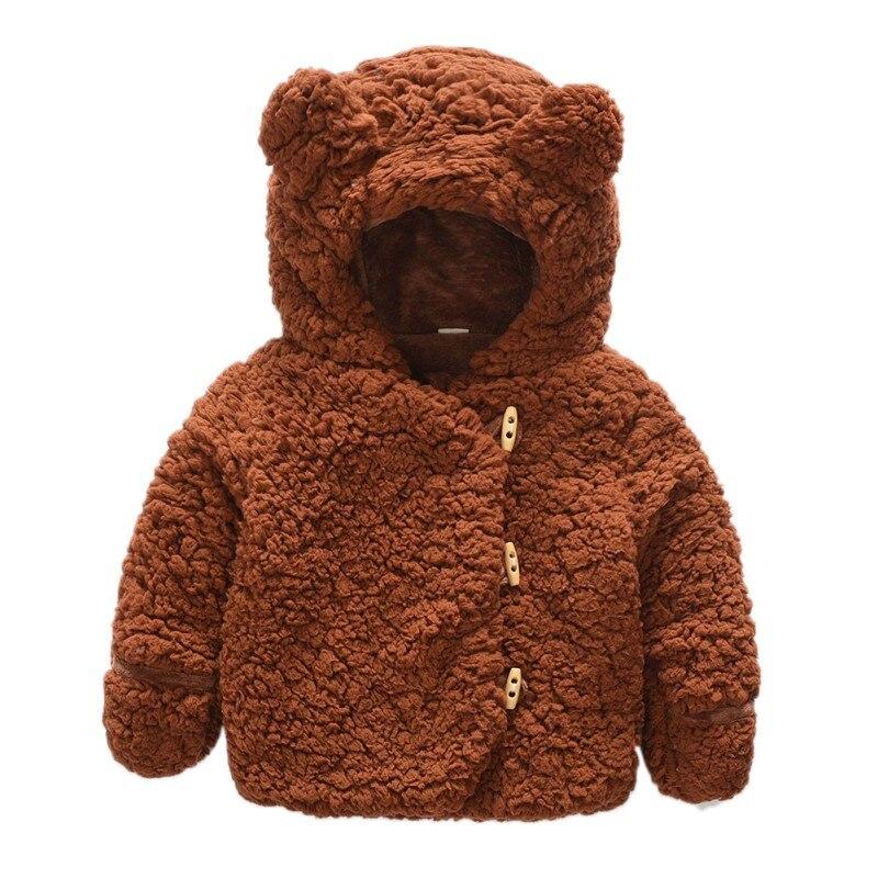 4722f65ec28f9 Vestes et Manteaux Bébé Garçon Fille Hiver Chaud vêtements en coton sweater  à capuche dessin animé Manteaux Infantile Enfant ...