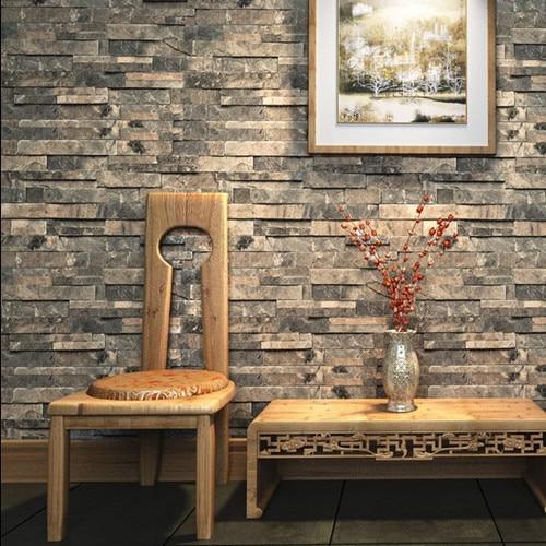 Modern  Granite  Decor walls 3D Stone Wallpaper Background Roll zk05 papel de parede tijolo vinil